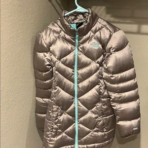Girls North Face, puffer jacket